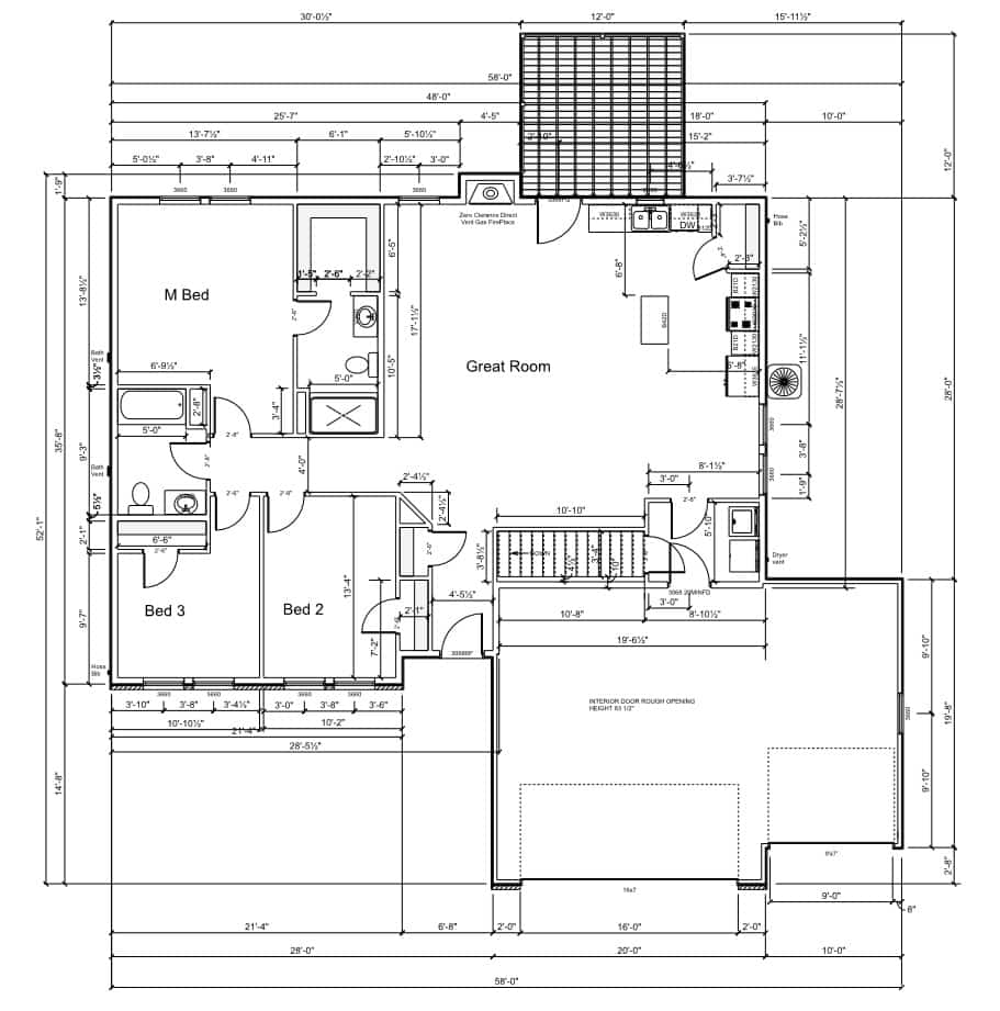1580-floor-plan-3-car 1580 Floor Plan - 3 Car