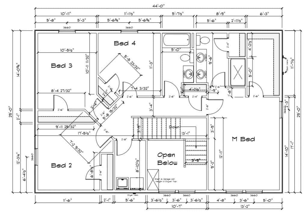 2349-2nd-floor-1024x707 2349 Sq Ft Floor Plan